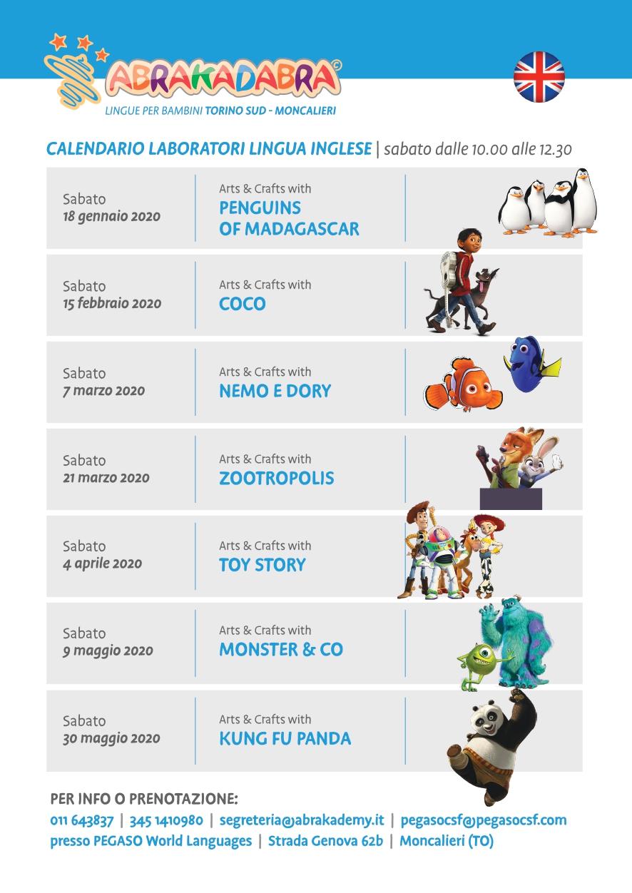 laboratori creativi per bambini abracadabra Moncalieri